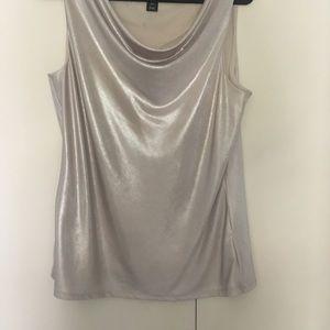 Sleeveless drape neck blouse